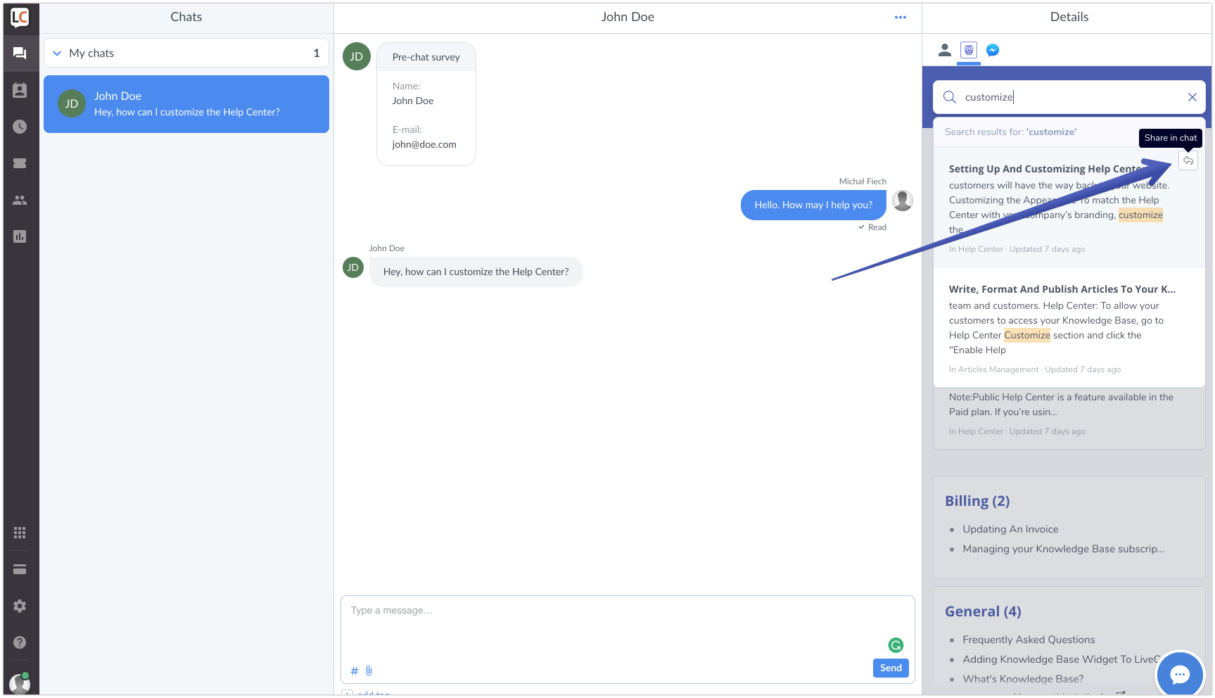 Using Quick Replies to handle your chats faster | Knowledge Base