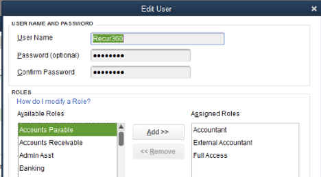 Recur360: Setting up Recur360 to sync with QuickBooks