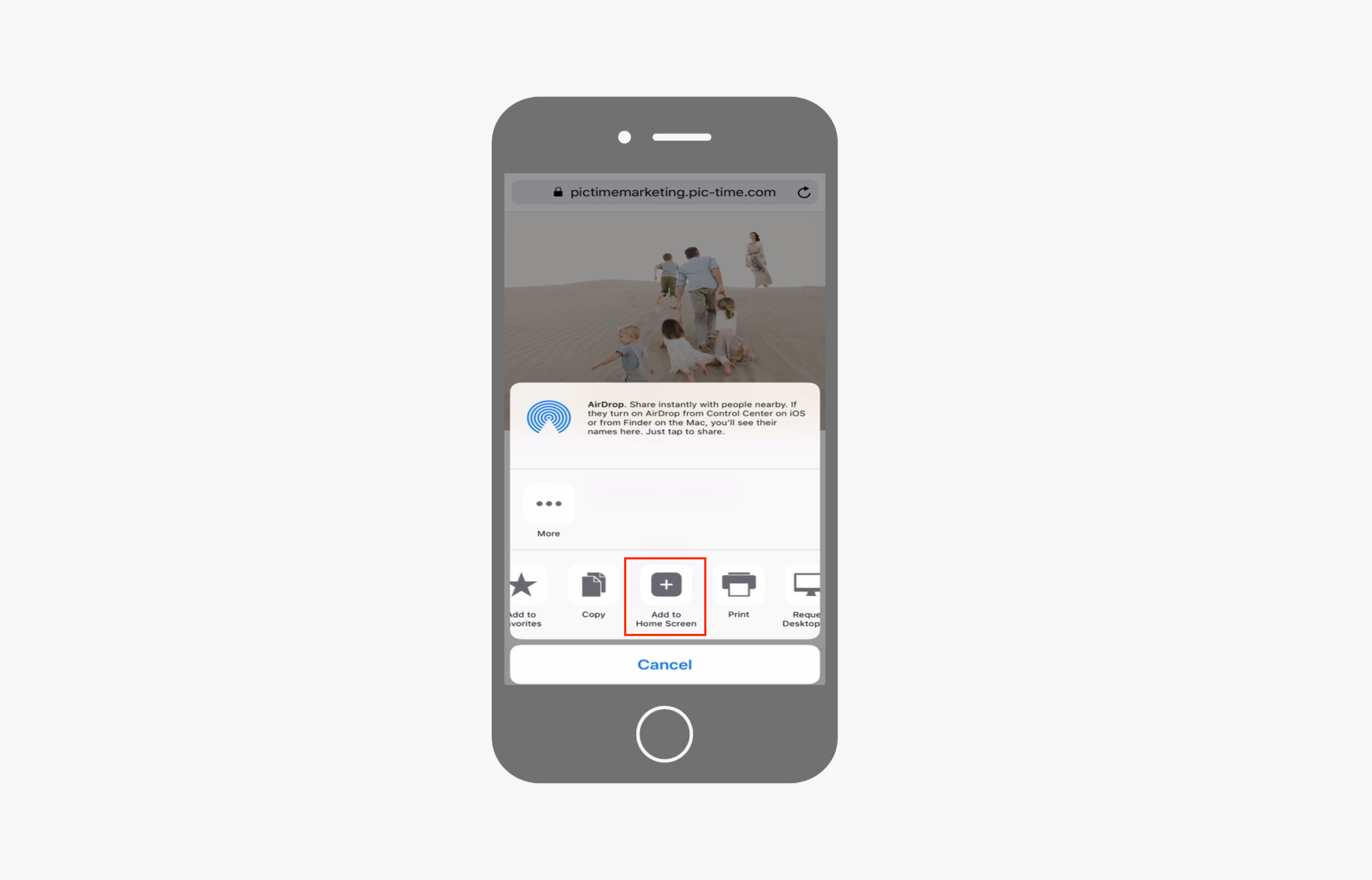 Pic-Time app telefono